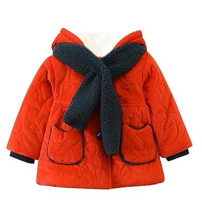Foutou's Toddler Boys Girls Autumn Winter Thick Warm Hooded Coat Cloak Outerwear
