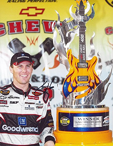 AUTOGRAPHED 2006 Kevin Harvick #29 GM Goodwrench Racing RICHMOND RACE WIN (Chevy Rock & Roll 400) Victory Lane Guitar Trophy Signed NASCAR Picture 9X11 Inch Glossy Photo with COA ()