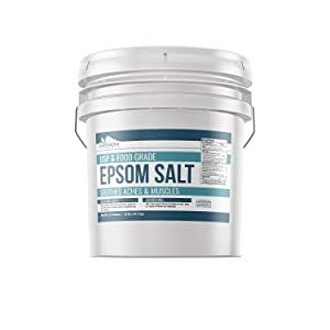 Epsom Salt (3.5 Gallon (32 lbs.) by Earthborn Elements, Resealable Bucket, Magnesium Sulfate Soaking Solution, All-Natural, Highest Quality & Purity, USP Grade
