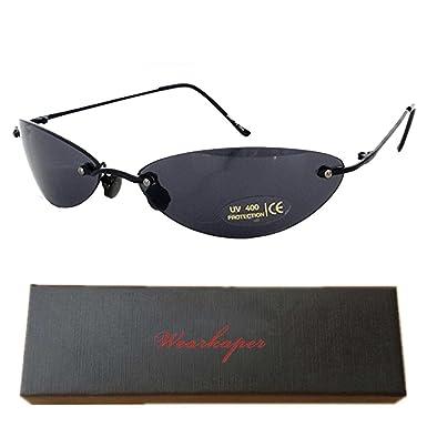 8d0b80d95b WEARKAPER Rimless Classic glasses Matrix Sunglasses Matrix Sunglasses Movie sunglasses  NEO sunglasses men (Black