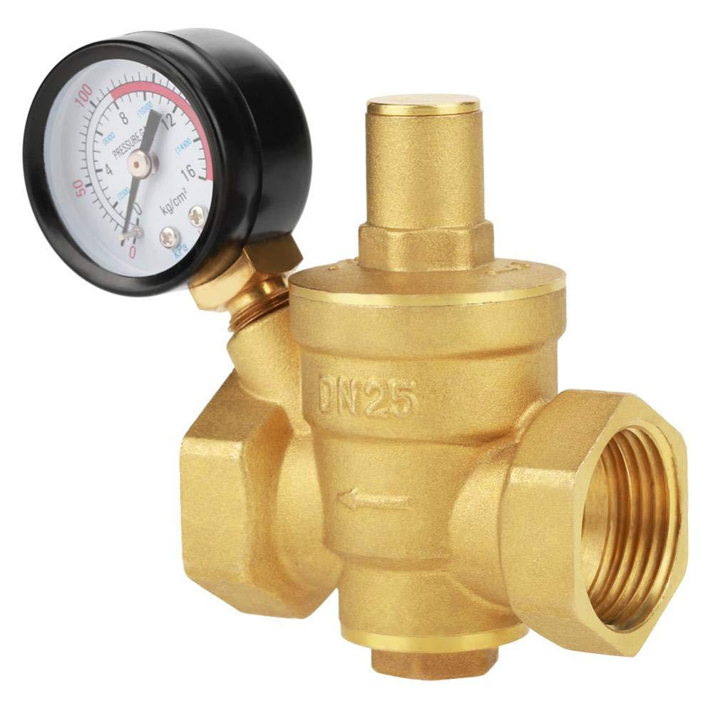 Brass Adjustable Water Pressure Reducing Regulator Reducer+Gauge Meter 1.6Mpa DN25 32mm Pressure Regulator