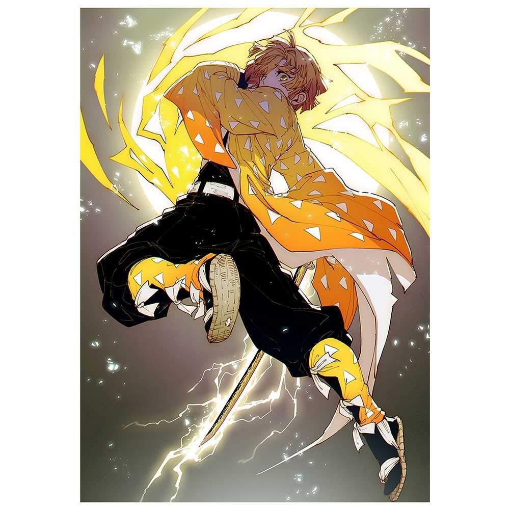 SGOT Anime Demon Slayer : Kimetsu no Yaiba Poster taie doreiller combin/ée pour Les Amateurs danime H01 Porte-cl/és 10 pi/èces Autocollants en Cristal