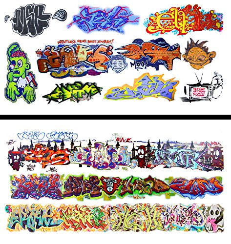 (HO Scale Graffiti Waterslide Decals 2-Pack #14 - Weather Your Box Cars, Hoppers, & Gondolas!)
