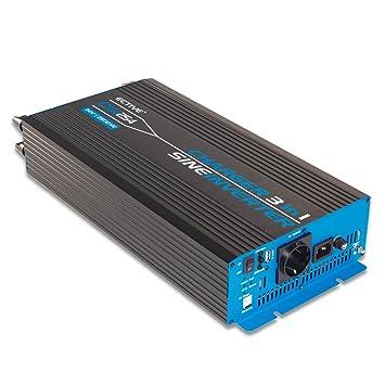 ECTIVE 2500W 12V zu 230V CSI-Serie reiner Sinus Wechselrichter mit ...
