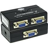 Ureru Mini 2 Port VGA Splitter Box 1 Entrée 2 Sortie image / vidéo Switcher pour 2 Pieces Partager 1 Moniteur
