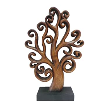 Decozen Handmade Wooden Tree of Life Décor a Symbol of Growth and Strength Made by skilled Artisans for Farm House Home Decor Living Rooms Bedroom Kitchen Console Table 4 x 10 x 15 inches