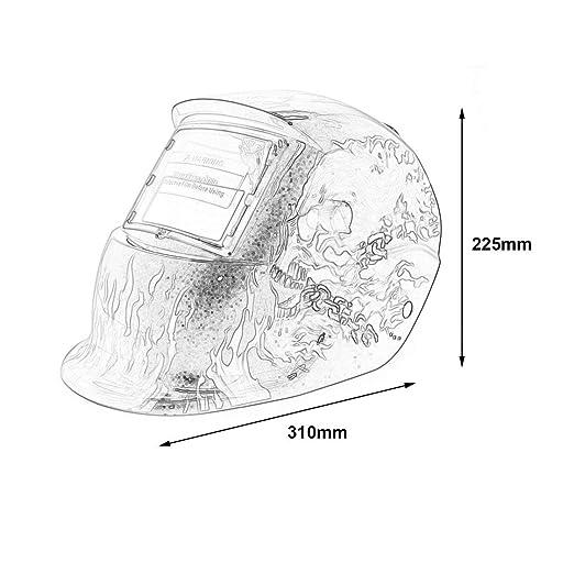 solar powered auto darkening tig mig mma electric welding mask Welding Helmet Outline