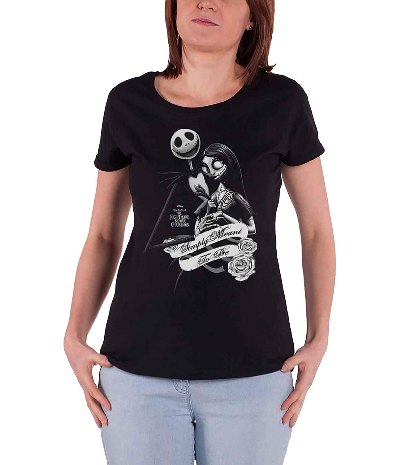 The Nightmare Before Christmas T Shirt Simply Meant To Be Nuovo Ufficiale da
