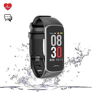 Teamyo Montre Connectée, Fitness Tracker Smartwatch, Moniteur de fréquence, Cardiaque, Sommeil,