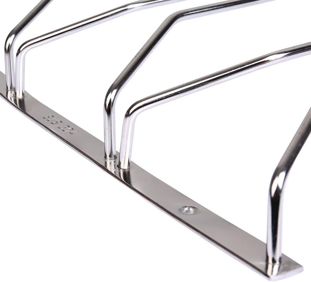 Dianoo Rangement de verre de vin de 3 rang/ées grille de suspension de fil support de support de verres /à pied en acier inoxydable sous le cabinet 27CM
