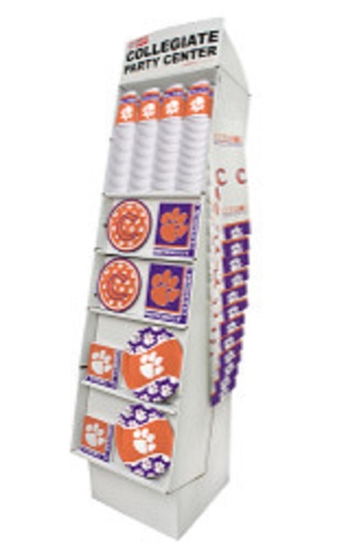 Club Pack of 126 Purple and Orange Clemson University Tigers Floor Displays 63''
