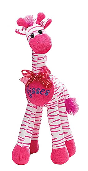 Valentines Day Sweetheart Kisses Pink Striped Giraffe 14 inch Juguete De Peluche