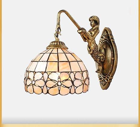 GCCI Wandleuchte Gang Retro Balkon Spiegel des Raumes der vorderen Lichter Raum mit Wohnzimmer Wandleuchte Shell