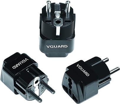 VGUARD Adaptador Enchufe Universal, [3 Unidades] Convertidor ...
