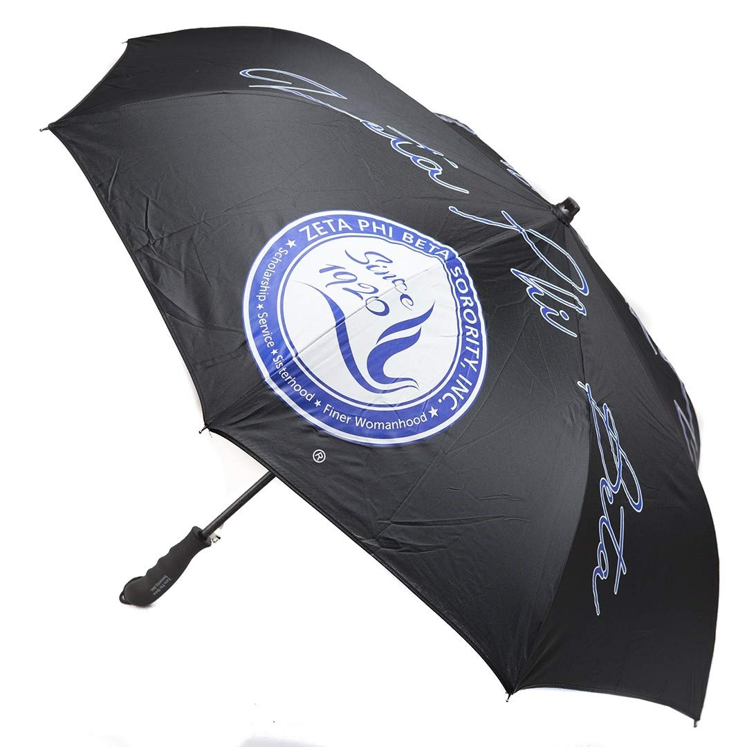 Zeta Phi Beta Jumbo Automatic Inverted Umbrella