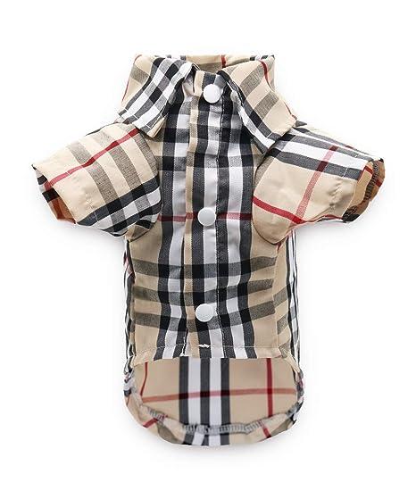 Whamsha - Camiseta Polo para Perros pequeños, Color marrón: Amazon ...