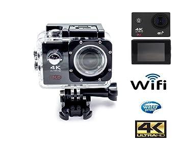 Camara deportiva Ultra HD WIFI, salida 4K pantalla 2.0 pulgadas, HDMI, visión 170º + kit componentes.: Amazon.es: Deportes y aire libre