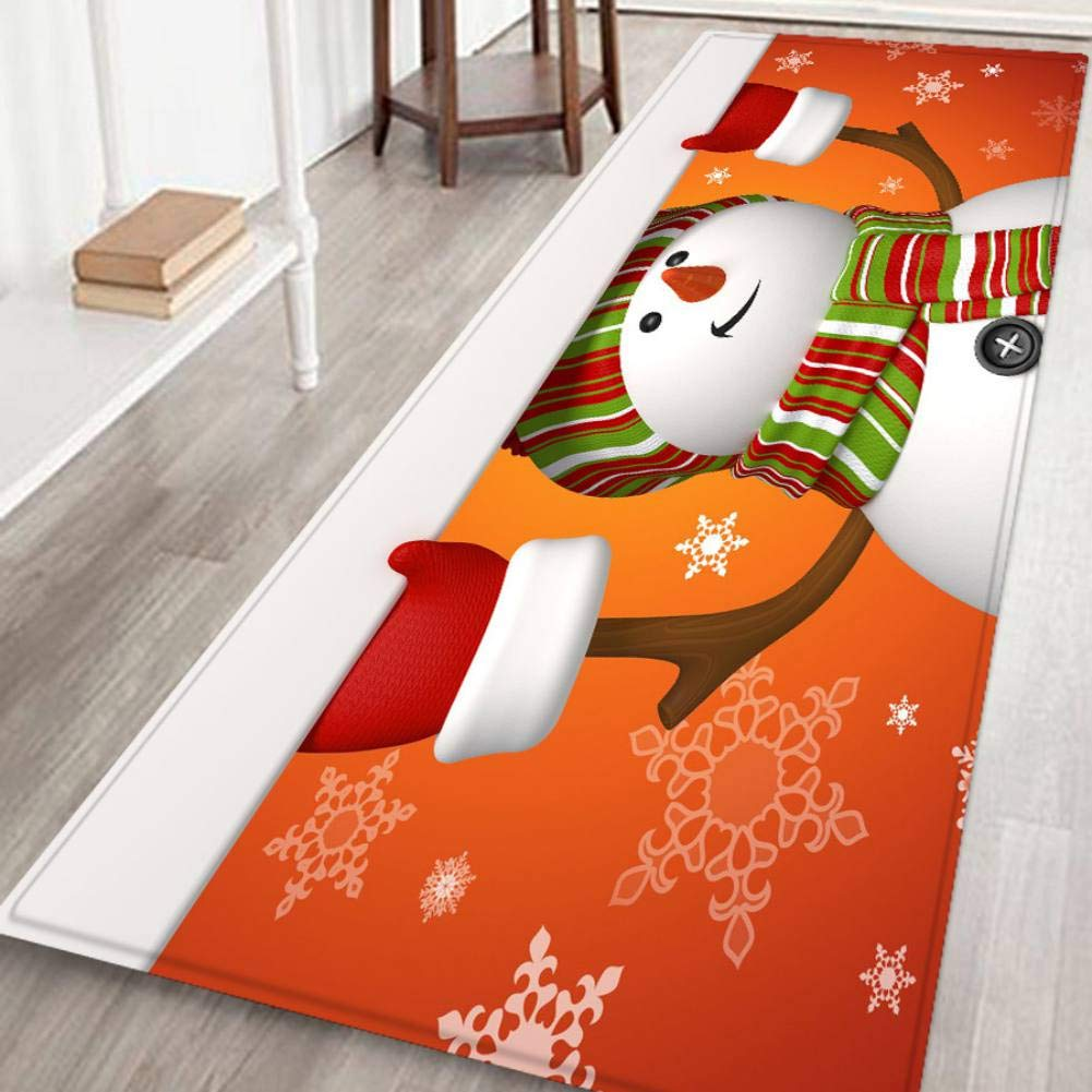 Xiyao Merry Christmas Rugs Carpet Non Slip Area Rugs Pad For Foyer