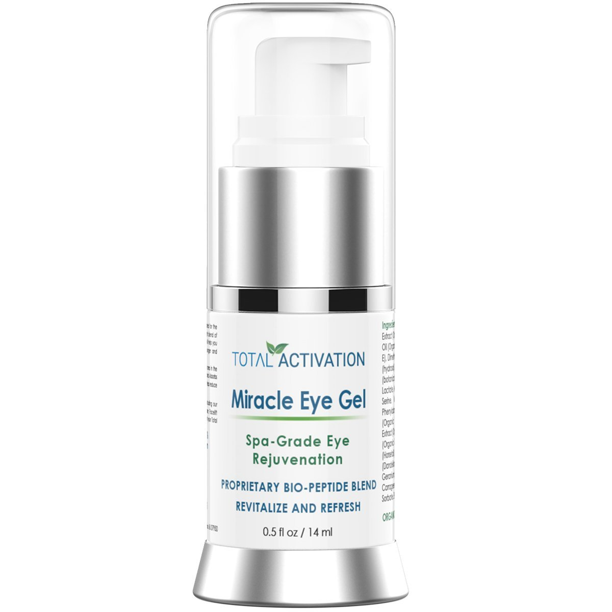 Anti Wrinkle Collagen Eye Serum for Men and Women, Age Spot Treatment, Anti Aging Gel, Replaces Retinol Face & Eye Skin Cream, Day & Night Dark Circle Under Eye Treatment, 0.5 oz Total Activation