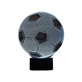 3d Optical Illusion Lampe Led Nachtlichter Fussball Modell Lsmy Touch Tischlampe Haus Dekoration 7 Farben Einzigartige Lichteffekte 1 5m Usb Kabel