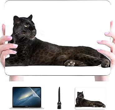 Macbook Pro 15 Estuche Leopardo Negro 6 años Frontal Carcasa rígida de plástico Compatible Mac Macbook Air Estuche para computadora Accesorios de protección para Macbook con Alfombrilla de r: Amazon.es: Electrónica