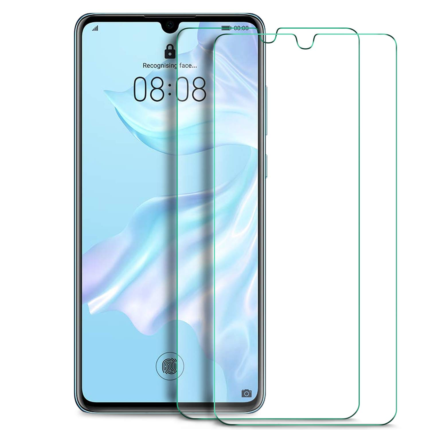KuGi  for Huawei P30 Screen Protector, 9H Hardness HD clear Easy & Bubble  Free Installation Tempered Glass Screen Protector Designed for Huawei P30