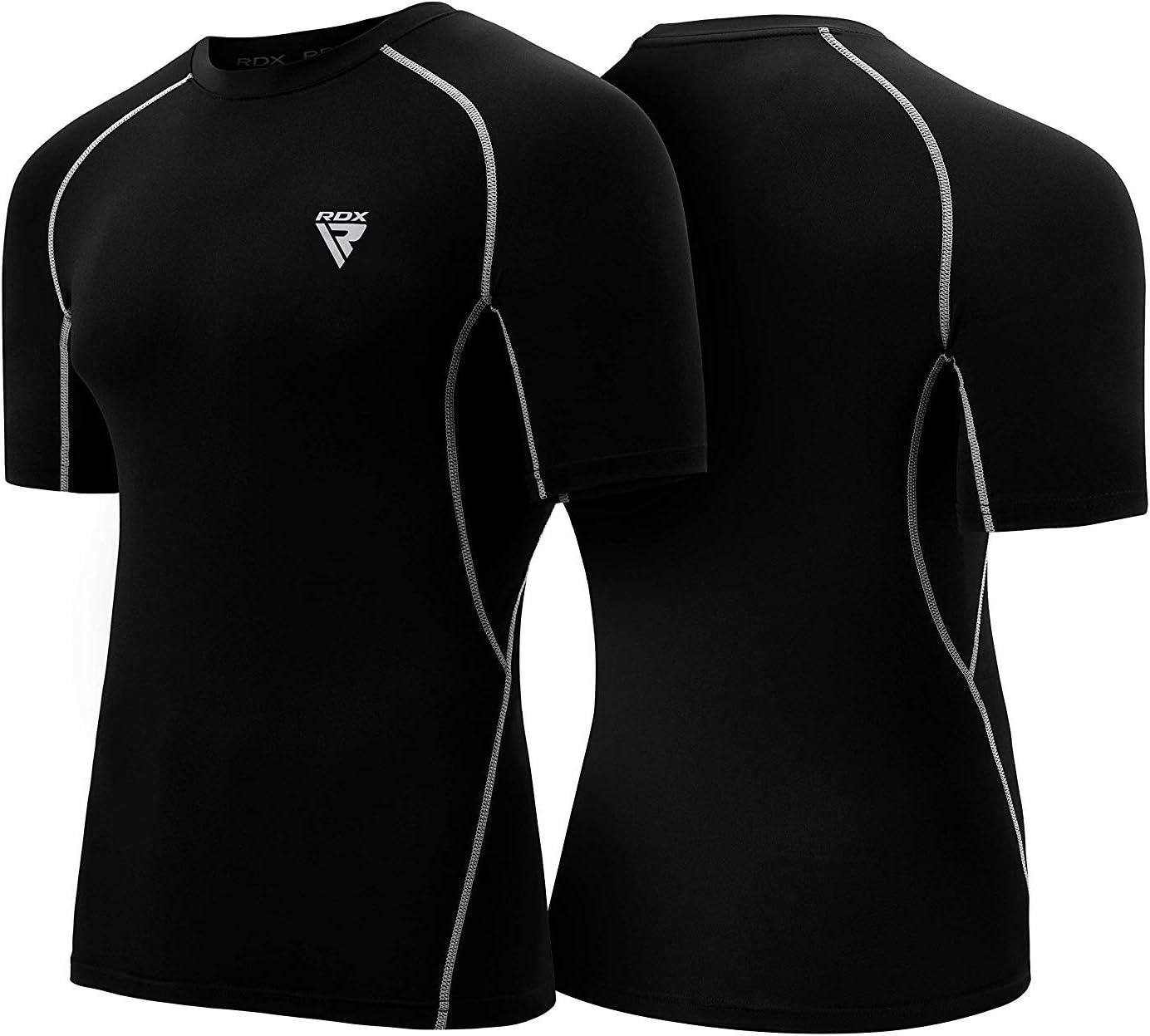 RDX Rash Guard MMA Compression Base Layer Training Martial Arts Thermal Sauna Suit Shirt Vest Sweatshirts
