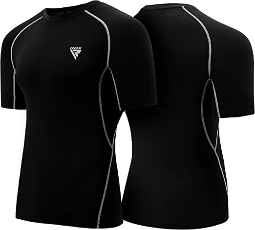 RDX Rash Guard Compression Base Layer MMA Training Sparring Running Cycling Sauna Suit Boxing Thermal Shirt Top Sweatshirts Workouts