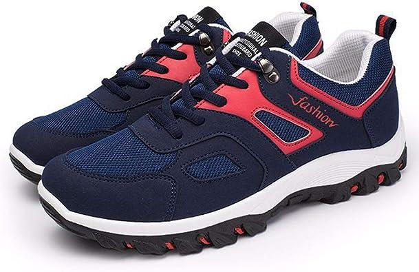 Zapatillas de Deporte de los Hombres al Aire Libre Impermeables Anti sip Senderismo Zapatos de Deporte con Cordones Zapatillas de Deporte Corrientes: Amazon.es: Zapatos y complementos