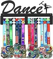 GENOVESE Dance Medal Holder Display Hanger Rack,Super Sturdy Black Steel Metal,Wall Mounted Over 50 Medals Eas