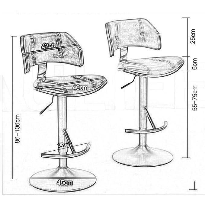 Amazon.com: Taburete de barra giratorio, silla de bar ...
