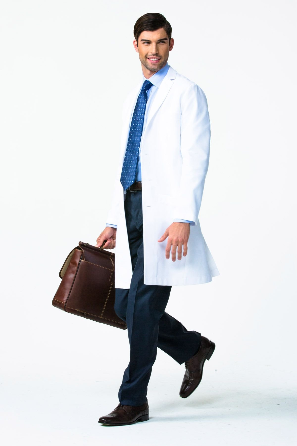 Men's E. Wilson Slim Fit M3 White Lab Coat- Professional Fit With Performance Fabric - Size 36 by Medelita (Image #3)