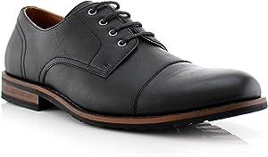 Ferro Aldo Spencer MFA19553L Mens Casual Cap Toe Oxford Dress Shoes