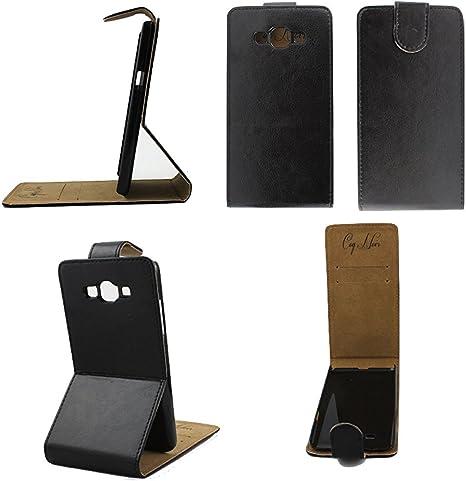 Estuche de lujo de cuero flip para Samsung Galaxy Grand Prime SM-G530FZ: Amazon.es: Electrónica
