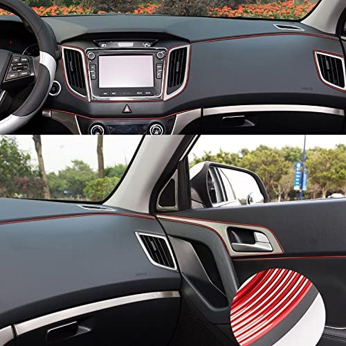 16FT Chrome Stripe Trim Line Insert For Chevy Console Dashboard Door Panel Gauge