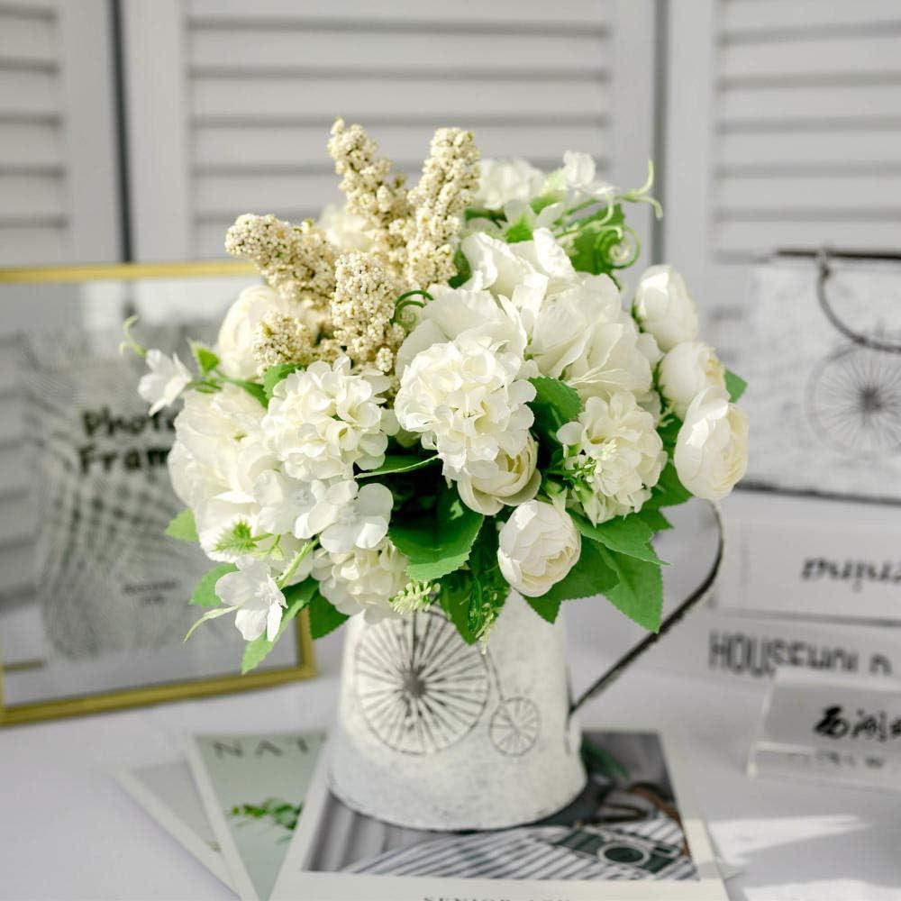 xgruisi Flores Artificiales Arreglo Floral En Una Maceta, Conjunto ...