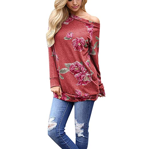 YKARITIANNA Women Cold Shoulder Flower Long Sleeve Sweatshirt Pullover Tops Blouse Shirt at Amazon Womens Clothing store: