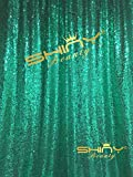 ShinyBeauty Sequin Backdrop 4FTx6FT-Green Backdrop Photography and Photo Booth Backdrop for wedding/Party/Photography/Curtain/Birthday/Christmas/Prom/Other Event Decor - 4FTx6FT(48inx72in) (Green)