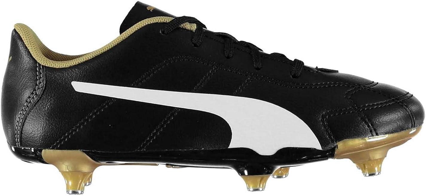 Puma Enfant Classico SG Chaussures de Football NoirBlanc