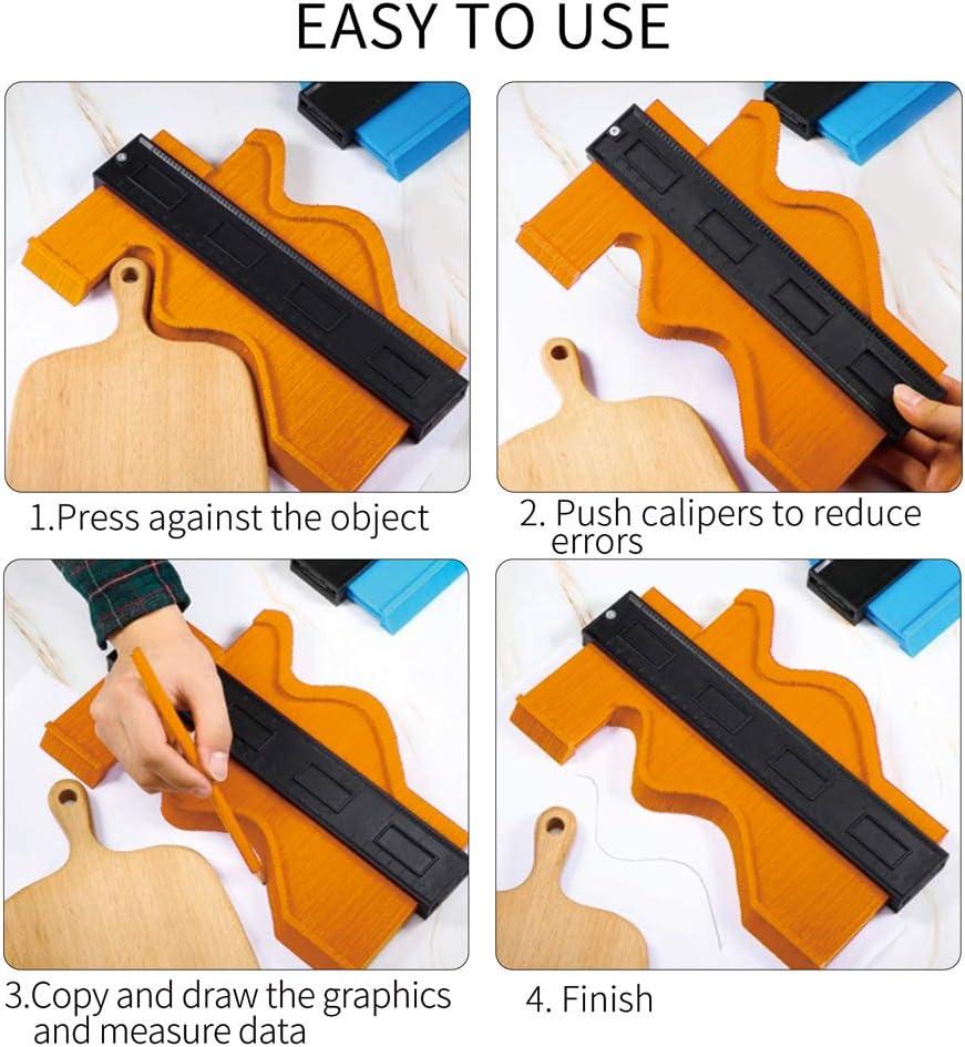 Plastic Irregular Ruler Tool Profile Gauge Measure Contour Ruler for Professional Measurement Wood /& Tiles Marking Cutting Irregular Shape 10Inch /& 5Inch HahaGo 2 Pack Contour Gauge Duplicator