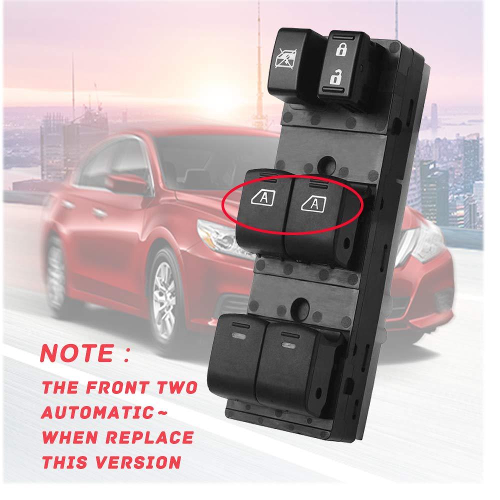 Master Power Window Switch 901804 for Nissan Altima Infiniti EX35 EX37 Driver Side Window Switch 25401ZN50C 25401ZN50B