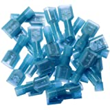 Bestsupplier 200 pcs Male(100pcs) Female(100pcs) Fully Insulated Wire Crimp Terminal Nylon Quick Connectors Wiring Spade