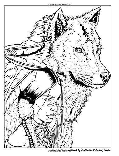 Color My Cover Notebook (Native American Woman and Wolf): Therapeutic notebook inspired by Native American Indian culture: for writing, journaling, ... Cover Notebooks and Journals) (Volume 64) pdf
