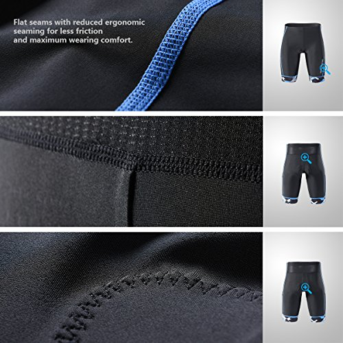 MY KILOMETRE Triathlon Shorts Mens 9 with Adjustable Drawstring Easy Reach Leg Pockets Chamois for Long-Distance Tri Race Cycling Shorts