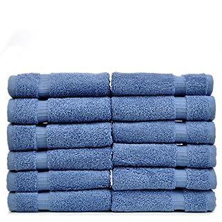 Chakir Turkish Linens Turkish Cotton Luxury Hotel & Spa Bath Towel, Wash Cloth - Set of 12, Wedgewood (B00SP0BQCS)   Amazon price tracker / tracking, Amazon price history charts, Amazon price watches, Amazon price drop alerts