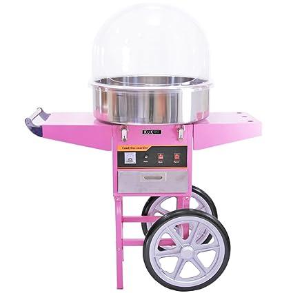 KuKoo Color Rosa Azúcar Eléctrica Azúcar Dispositivo Azúcar Incluye Carro con 2 Ruedas y cajón con