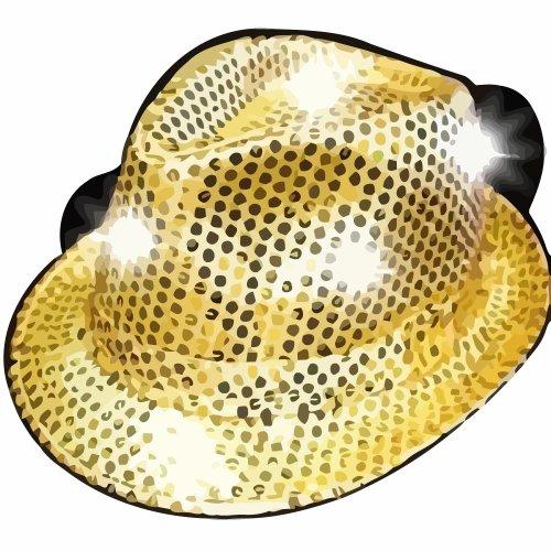 Supreme Party & Novelties LED Fedora, Gold -