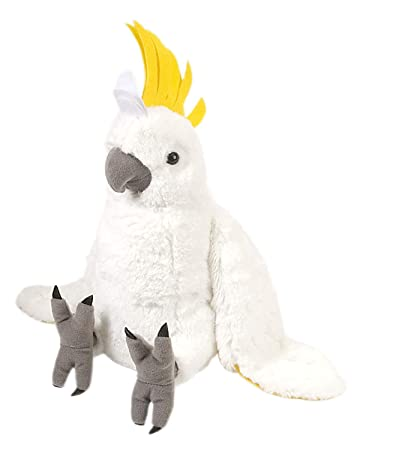 E-Chariot Soft Toys Cockatoo Plush Stuffed Animal Cuddlekins by Wild Republic (10925) 12 Inches