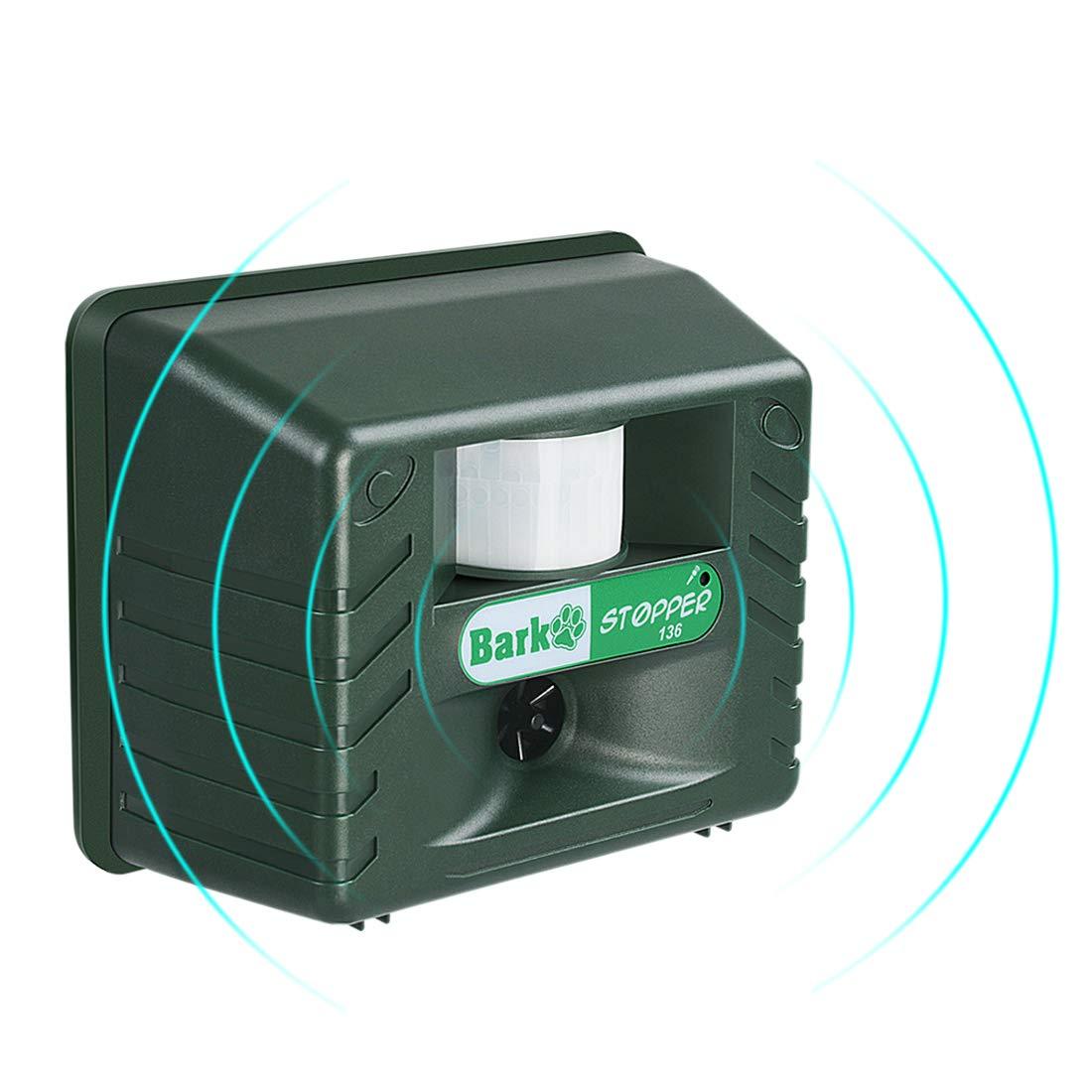 ADDTOP Ultrasonic Dog Repeller, Motion Sensor Animal Pest Dogs Repellent, Ultrasonic Sonic Dogs Bark Barking Control with Thermal Infrared Sentive