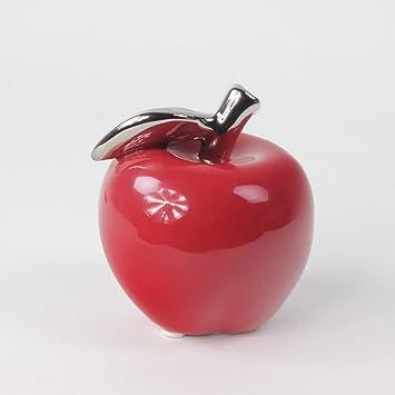 pomme dcoration pomme fruits en cramique rouge 10 cm - Pomme Ceramique Pour Decoration